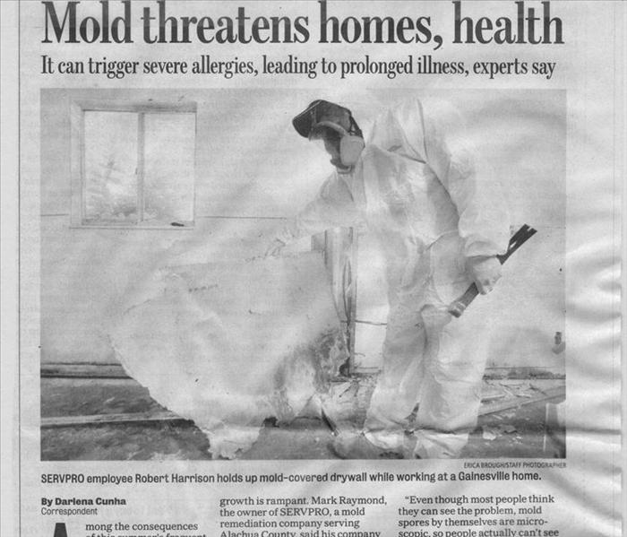 Mold Remediation SERVPRO of Alachua County West in the Gainesville Sun